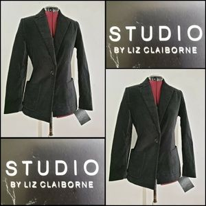 Liz Claiborne Woman Blazer Suit Jacket Sz 4 Black